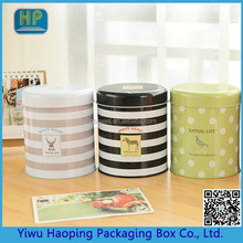 Cute tin tea caddy tin biscuit box cubby box round tin Polka Dot Dot