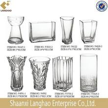 Home Decoration Glass Material Different Shape Different Types Glass Vase