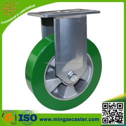 Fixed Heavy Duty elastic PU removable caster wheels