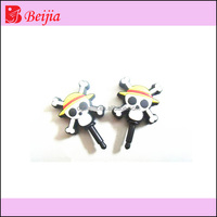 2014 new stylish micro injection silicone crystal earphone jack plug,dust proof ear caps for iphone and for ipad