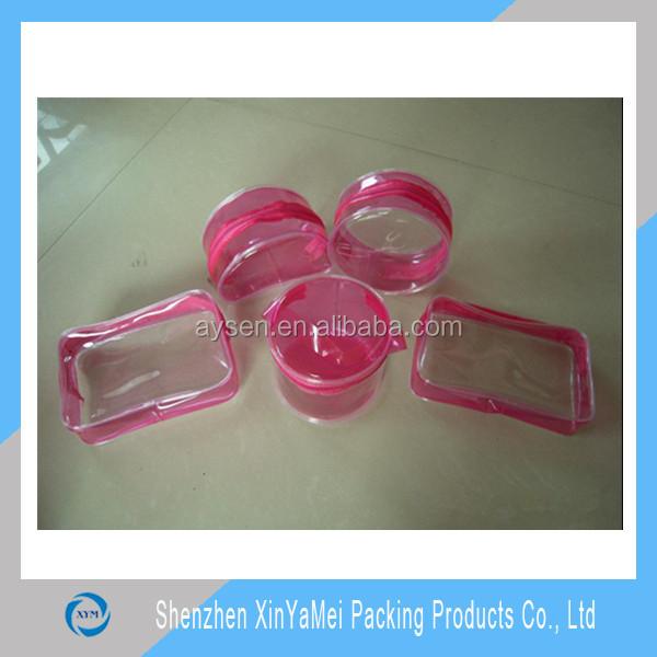 특수 투명 ziplock 작은 장난감 플라스틱 림 PVC 가방