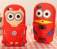 3D minion hero silicone case skin cover for iphone 4G 4S
