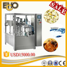 2015New condition professional counting rotary Pre-bagged feeder solid and granule filling packing line