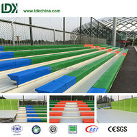 Best fixed comfortable plastic seat hot galvanized bleacher for playground