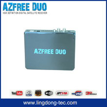 iptv set top box receiver satellite azbox bravoo hd az america Azfree DUO with free iks sks for colombia