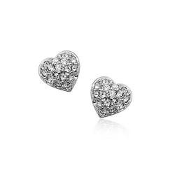 Heart shape earring,emerald price per carat earring with cz bridal earrings from best wholesale websites