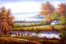 pinturas al óleo del paisaje natural para el hogar decoración de pintura al óleo