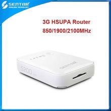 Pocket wifi unlocked 3g router sim card support UMTS B1/B2/B5 network bands