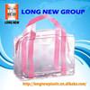 E 2015 customized logo printing high quality pvc clear plastic bags