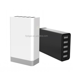 40W universal mobile 5v usb wall power 5 port travel charger for cellphone/tablet