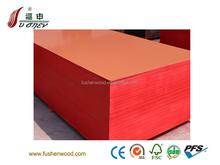 china FUSHEN poplar-eucalyptus combi red concrete film faced plywood