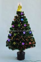 Popular Indoor Decoration Fiber Optic Gold Angel Ornament Christmas Tree