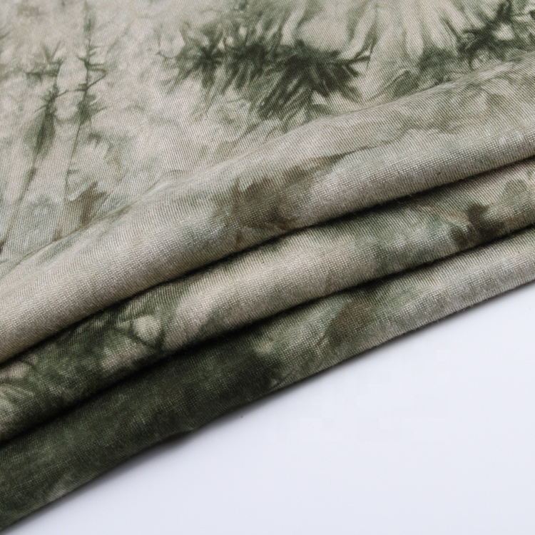 Haute qualité 5% spandex 95% rayonne rouleaux cravate teinture ankara jersey tricot tissu stock