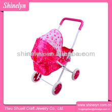 2014 fábrica china de cochecitos venta al por mayor adorable cochecito para muñecas de juguete con ruedas Nro.808-11