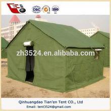 Verde militar de la lona de una sola capa tienda para 5 personas