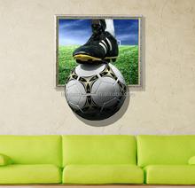 China sticker high quality home decor football 3d wall sticker