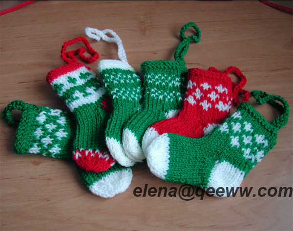 Hand Knitted Christmas Tree Decorations Stockings Buy Christmas
