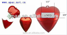 high quality cool design metal heart shape usb flash drive printable