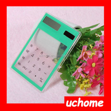 UCHOME Transparent Solar Powered Calculator,Clear Value Calculator,mini Calculator
