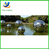 Metal steel spheres sculptue, garden stainless steel ball for sale