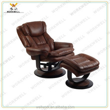 WorkWell living room luxurious leather chair with vibration massage kw-R66a