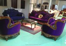 Danxueya- hot purple velvet sofa lifestyles furniture sectional sofa