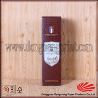 Wine packaging art paper gift case with custom logo