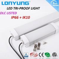 60cm-30w 90cm-40w 120cm-60w 150cm-80w 180cm-90w 240cm-120w LED tri-proof light, Led Batten Light ip65 IK10 Rate linkable fixture