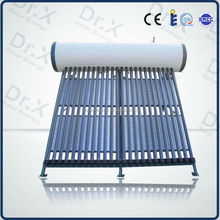 2015 high efficiency heat pipe pressurized solar water heater system price