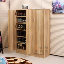 home furniture solid teak wood shoe storage cabinet design shoe display cabinet