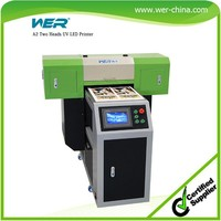a2 digital wood printer LCD touch screen/ ball screw drive system/vacuum suction platform wood printing machine