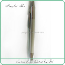 Customized LOGO Promotional silver classic metal light click ball pen