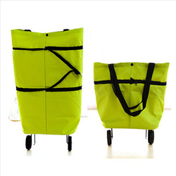 2015 new style and most popular canvas shopping bags with wheels