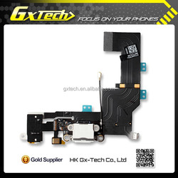 For durable iPhone 5S Dock Connector Charging Port Flex Cable Replacement - White, Paypal Accepted!!