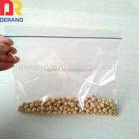 moistureproof plastic zip lock bag for food storage