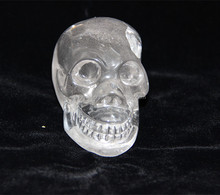 Natural clear move chin rock quartz crystal skulls head crystal skulls/customise is available