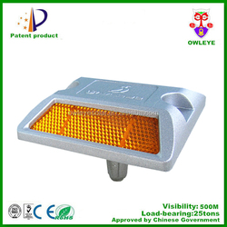 road safety reflective aluminum road stud with reflector