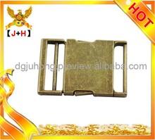 Metal zinc alloy eye splice buckle quick release bag buckle