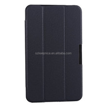 tri folding ultra thin folio leather case for samsung t230 tablet
