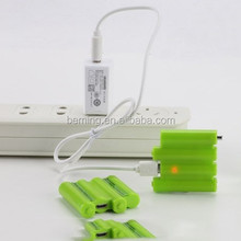 BS47 USB battery replace 4pcs AAA dry battery, micro charging usb rechargeable battery