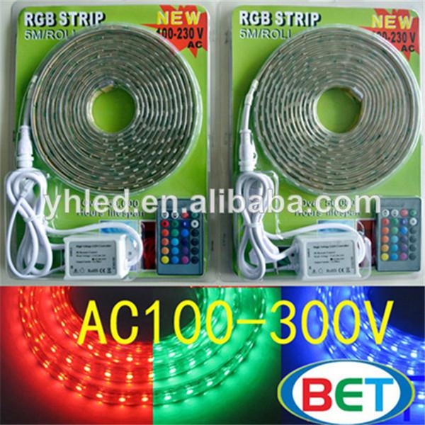 ledlights110v220v5050smdledストリップled深圳5mrollブリスターパッケージ
