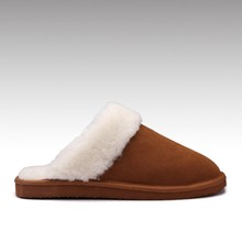 HC-948 Suede leather upper sheepskin lining EVA outsole women indoor shearling lined slippers for winter
