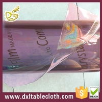 colorful red pvc transparent normal clear tablecloth film
