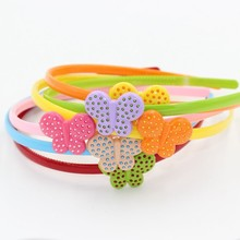HL-0377 Multicolor Butterfly Hair Hoop Magnetic Plastic Headband for Kids and Girls