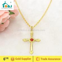 Strict quality control cross with gold jesus pendant Cheap custom