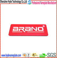 custom metal adhesive kinds of nameplate furniture decoration label