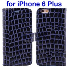 Popular design Crocodile Texture genuine leather case for iphone 6 plus
