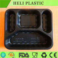 2015 Latest Disposable Plastic Divided Food Tray lunch box Made in China