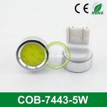 Reasonable price with high quality car led lights t20 w21/5w 7443 COB-7443-5W led lamp for car 5w led cob