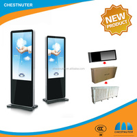 55 inch windows os floor standing indoor HD lcd advertising display totem touch screen kiosk for lottery center